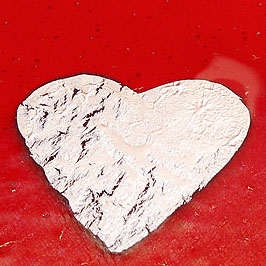 Close up of Silver Heart